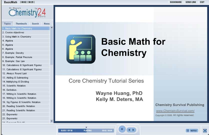 General chemistry equations