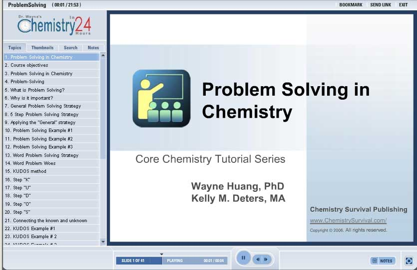 problem solving in chemistry Creative problem solving in chemistry - pheromones creative problem solving in chemistry - catalase creative problem solving in chemistry: h + ions in water.